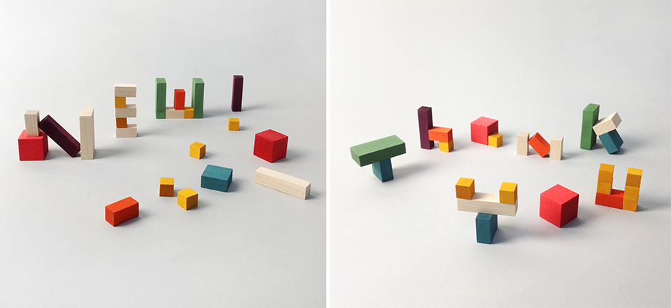 Mini Cubes typography