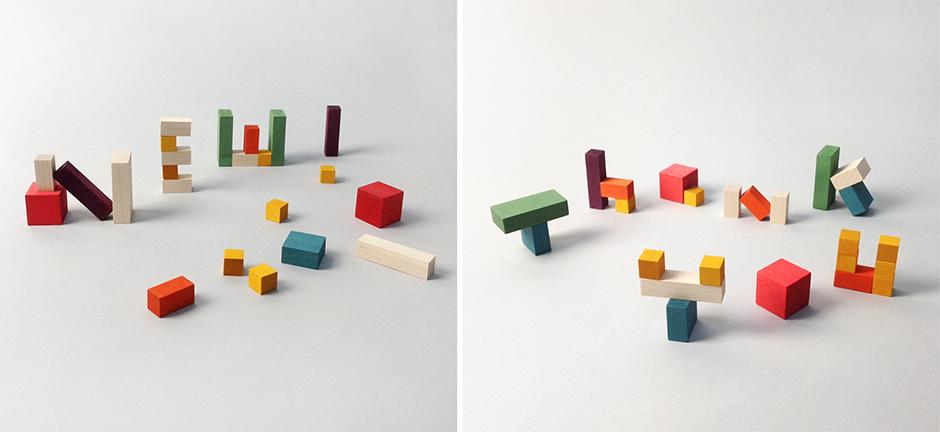 Mini Cubes typography