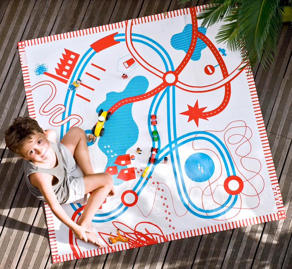 Roads Organic Cotton Playmat