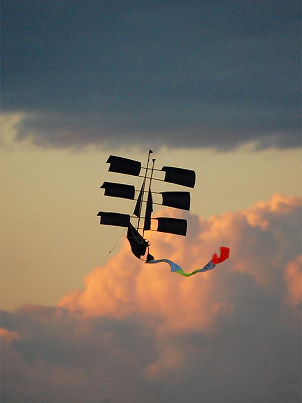 Sailing Ship Kite Indigo