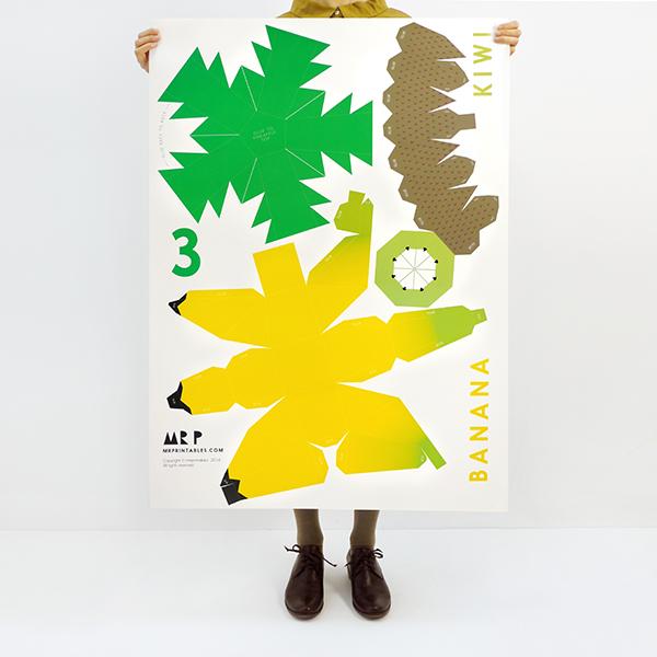 Giant Tropical Fruit Paper Sculpture Kit