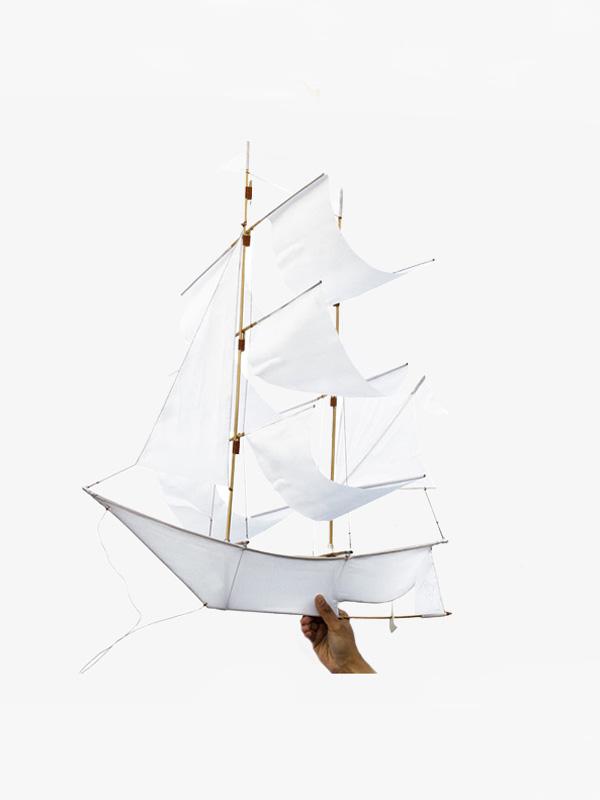 Sailing Ship Kite White