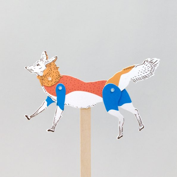 Fox Paper Puppet Kit