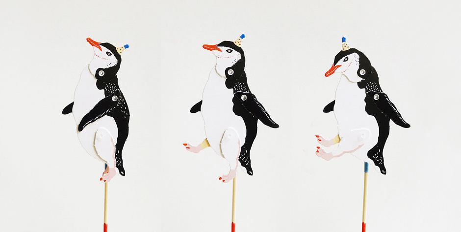 Penguin Paper Puppet Kit Moon Picnic