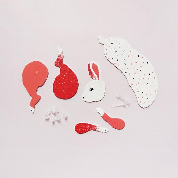 Rabbit Paper Puppet Kit