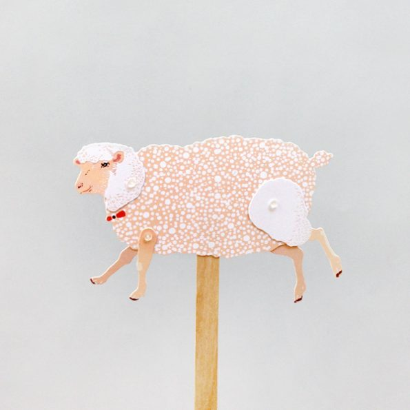 Sheep Paper Puppet Kit