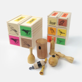 handmade bird calls from France