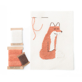 Fox Needlepoint Kit by Fanny & Alexander