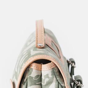 Green canvas satchel by Fanny & Alexander