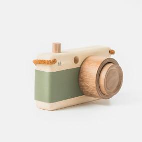 Wooden camera in green by Fanny & Alexander