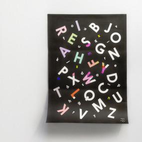 Alphabet Soup Coloring Poster - Rock & Pebble