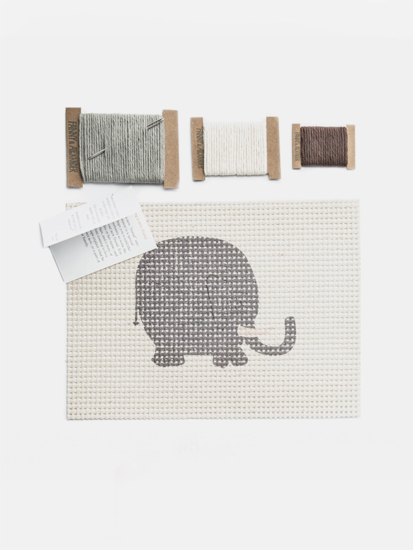 Themed Needlepoint Kit - Elephant