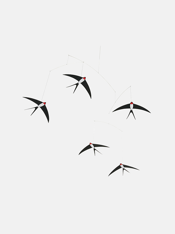 Five Flying Swallows Mobile