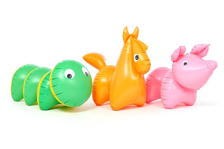 Classic Pony inflatable toy designed by Libuše Niklová