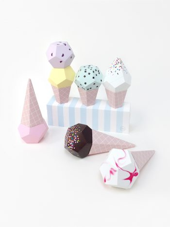 3D Paper Ice Creams - by Moon Picnic & Mr P