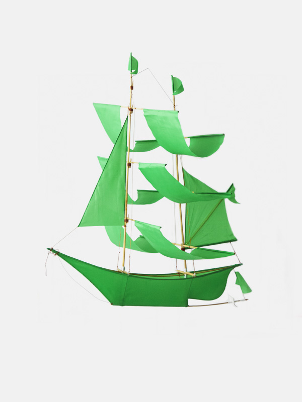 Sailing Ship Kite Green