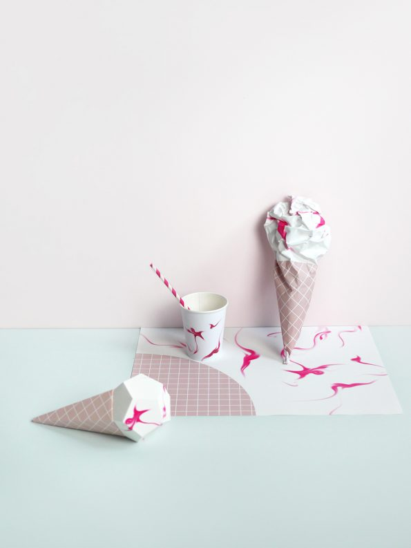 Paper ice creams moon picnic