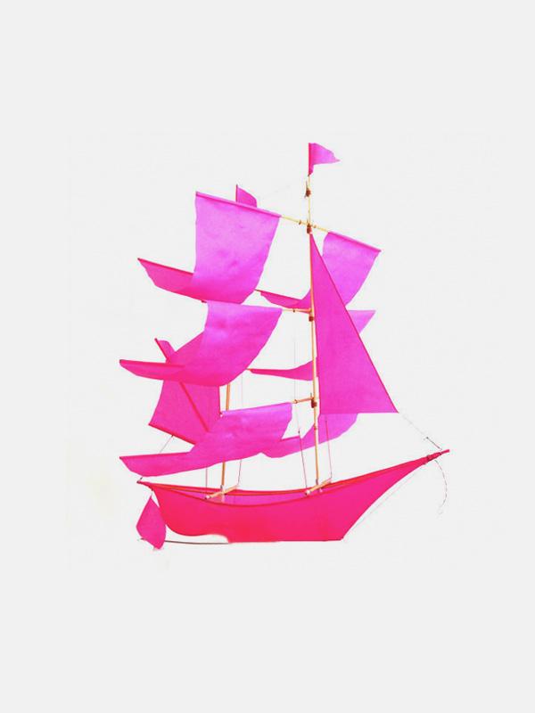 Sailing Ship Kite Pink
