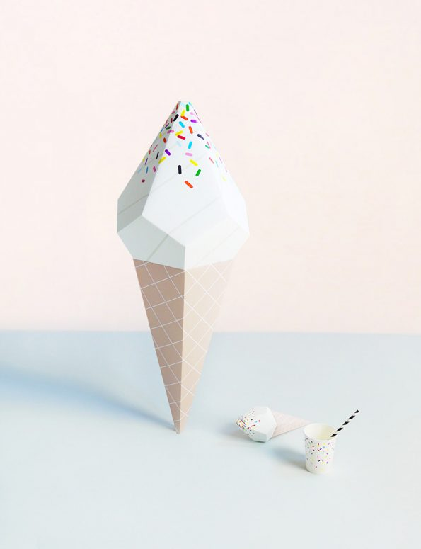 Giant Ice Cream Paper Sculpture Kit – Vanilla Soft Serve