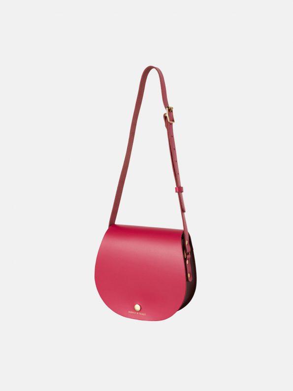 Etter Saddlebag – Wine Gum Red & Bright Pink