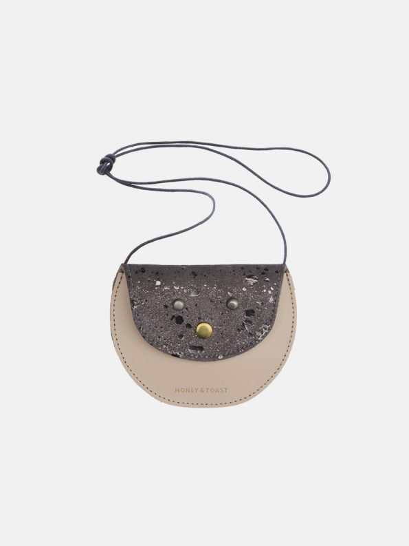 Pippin Purse – Dark Silver & Nude