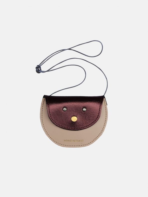 Pippin Purse – Metallic Plum & Nude