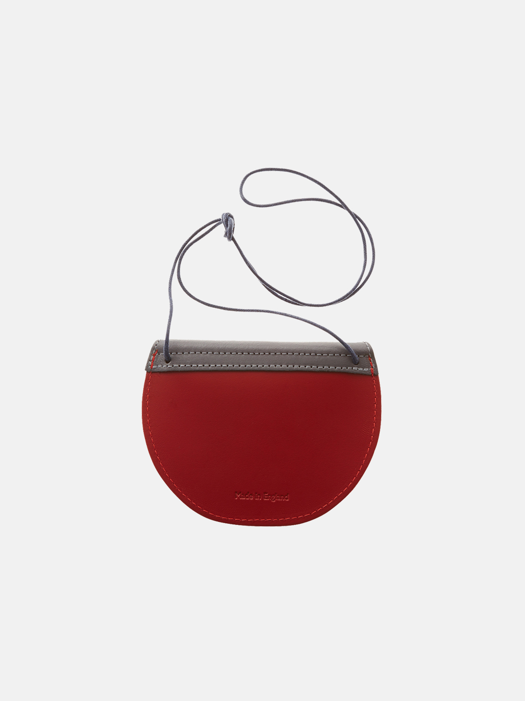 Pippin Purse - Stone Grey and Cherry Red