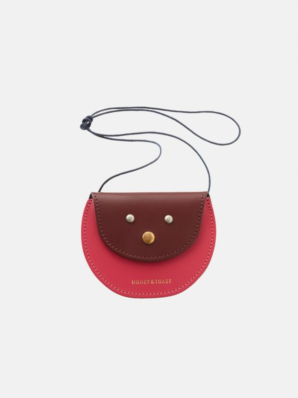 Pippin Purse – Wine Gum Red & Bright Pink