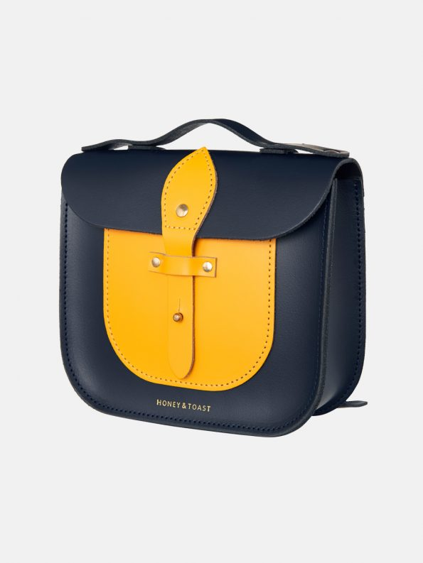 Rocket Scooter Satchel – Navy Blue & Sun Yellow