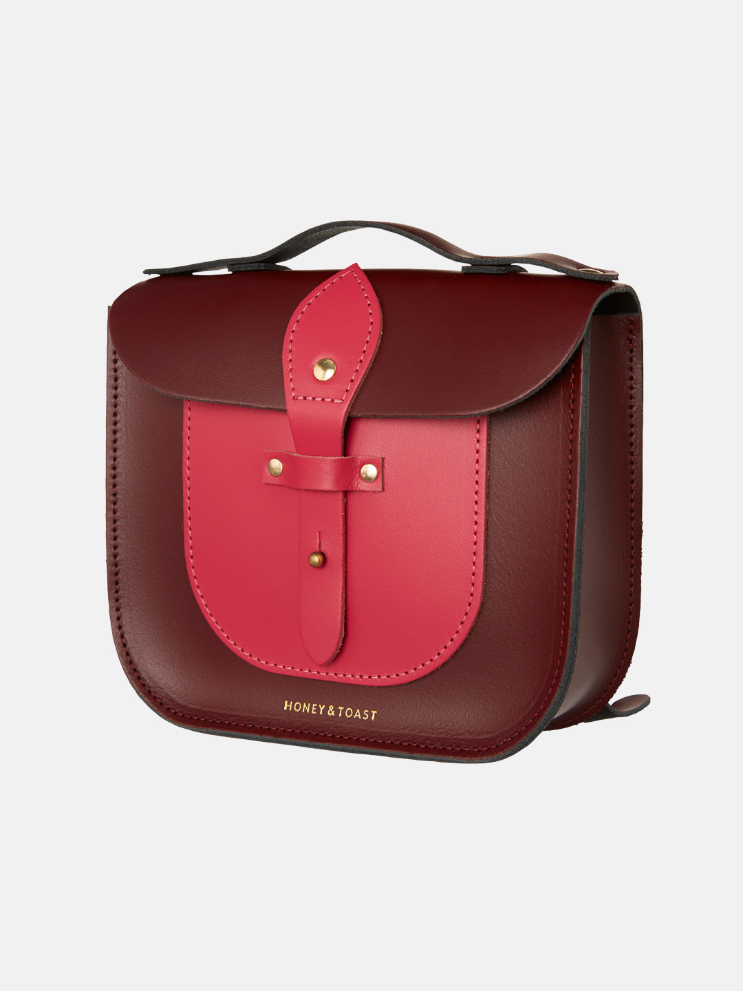 Rocket Scooter Satchel - Wine Gum Red & Bright Pink