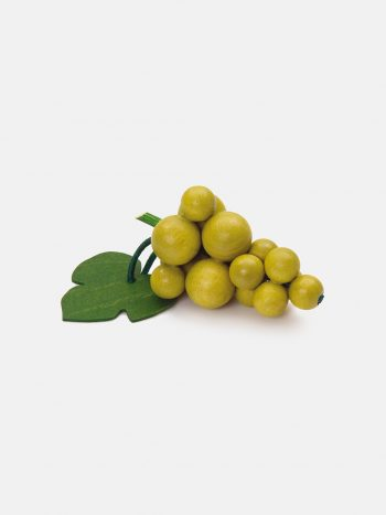 Realistic play food for toddlers – wooden fruit Green Grapes for play kitchen, eco-friendly and safe, made in Germany by Erzi.