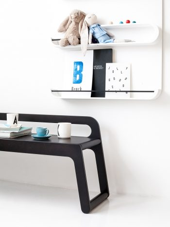 Rafa Kids furniture for modern kids room decor, BB90 bench in Black