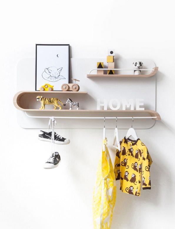 L Shelf – Natural / White