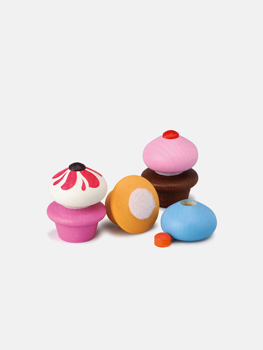 Wooden Sweet - Cupcakes