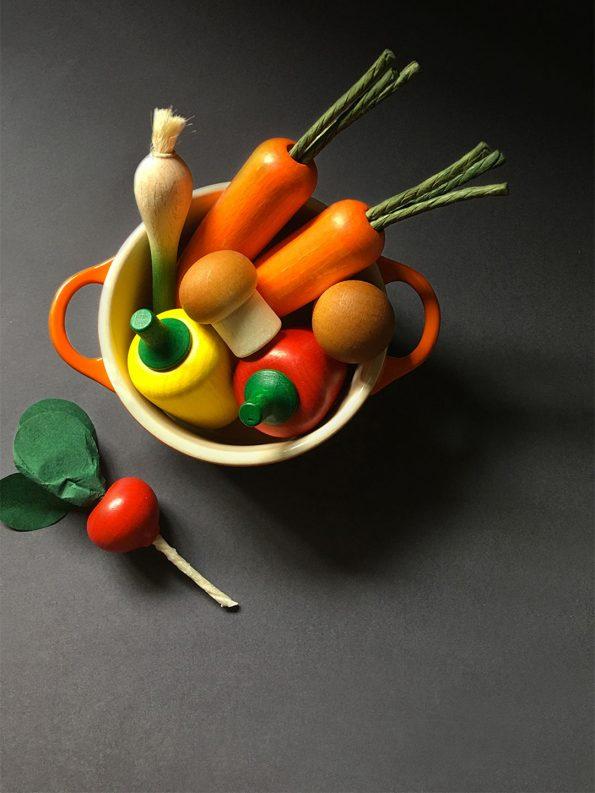Wooden Vegetables Play Food Set Moon Picnic