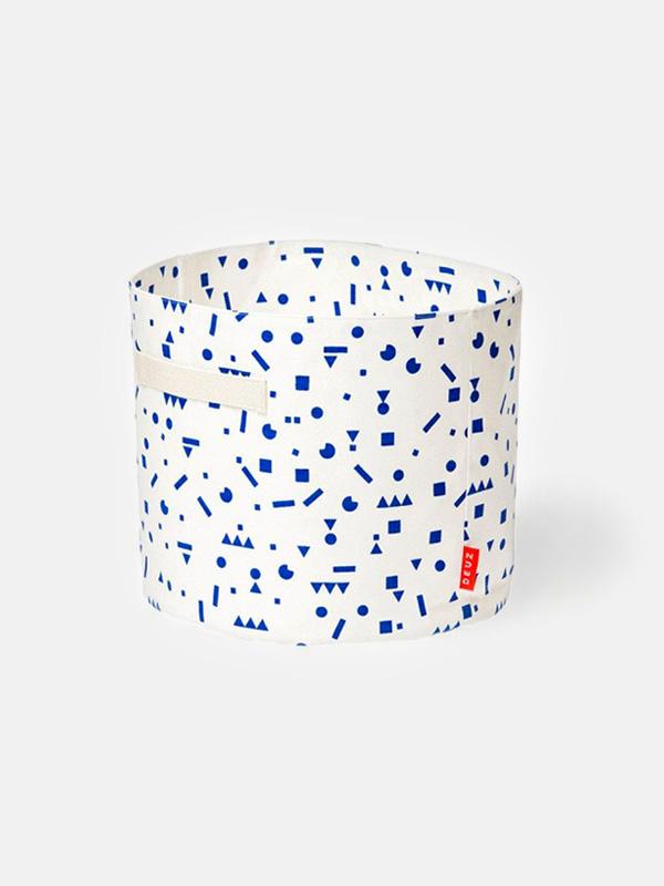 Storage Basket - Blue Stickers