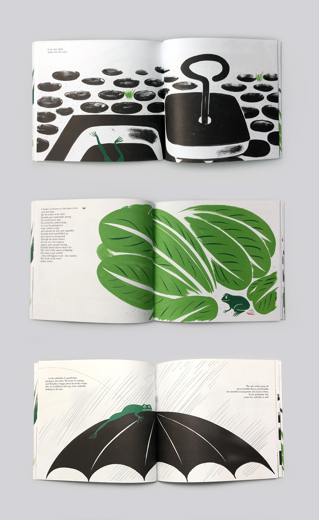 Bruno Munari's children's book - Romilda The Frog