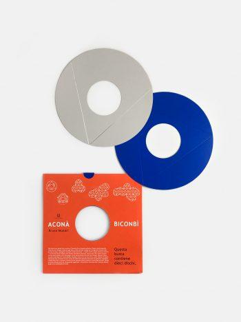 Geometric paper toy Acona Biconbi, designed by Bruno Munari, mid-century design for children