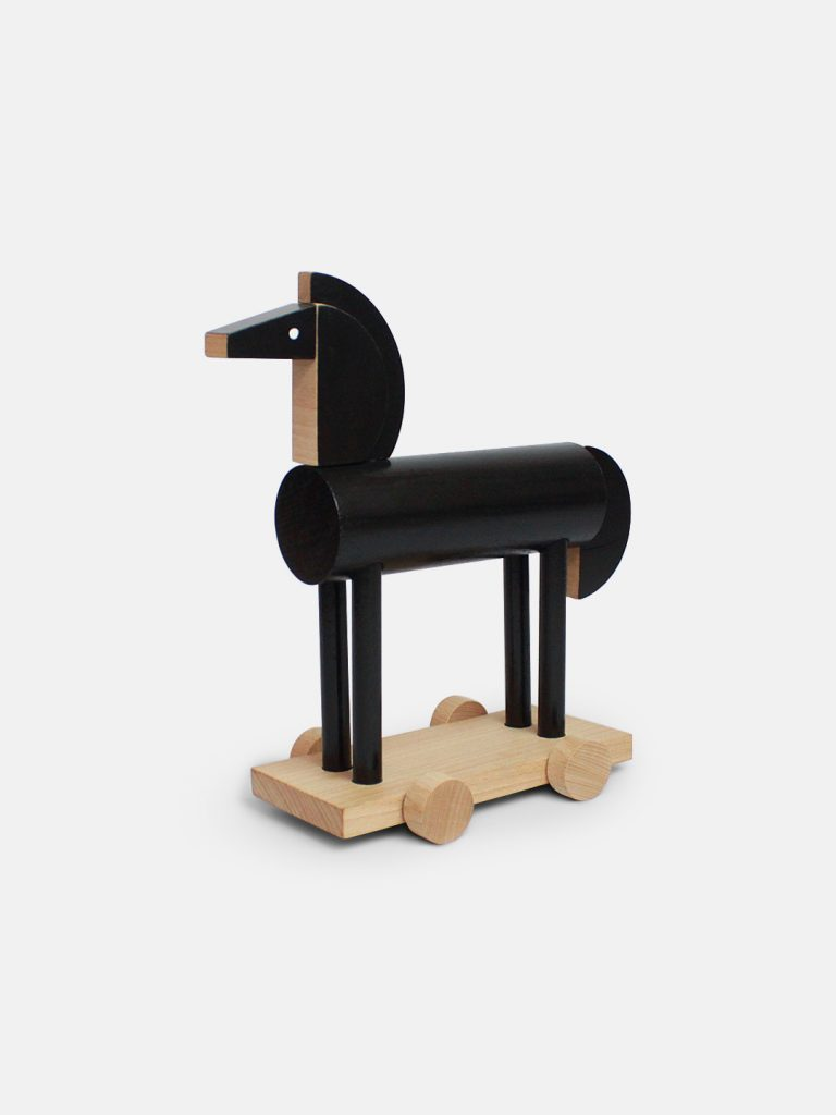 Noxus The Wooden Horse by Kutulu - contemporary Czech design animal wooden toy - black horse