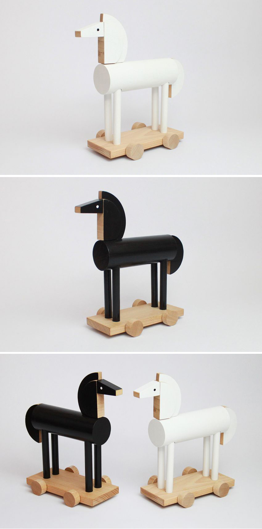 Ortus The Wooden Horse by Kutulu - Contemporary Czech Toy Design, Wooden animal toy