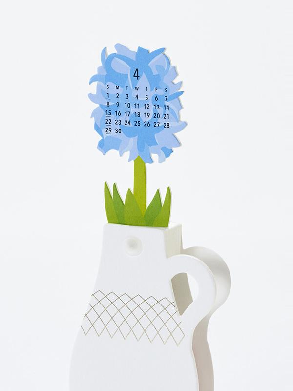 Flowers 2018 Calendar Paper Craft Kit