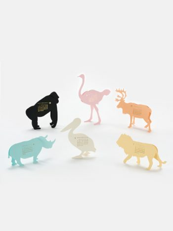 Safari 2018 Calendar Paper Craft Kit by Goodmorning Japan