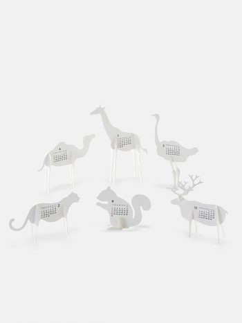 Zoo 2018 Calendar Paper Craft Kit by Goodmorning Japan