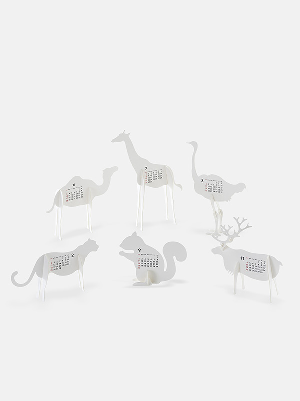 Zoo 2018 Calendar Paper Craft Kit