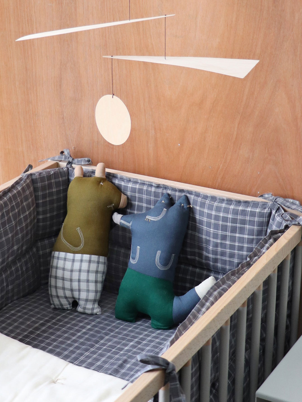 handmade baby nursery cot blankets & cushion by Camomile London