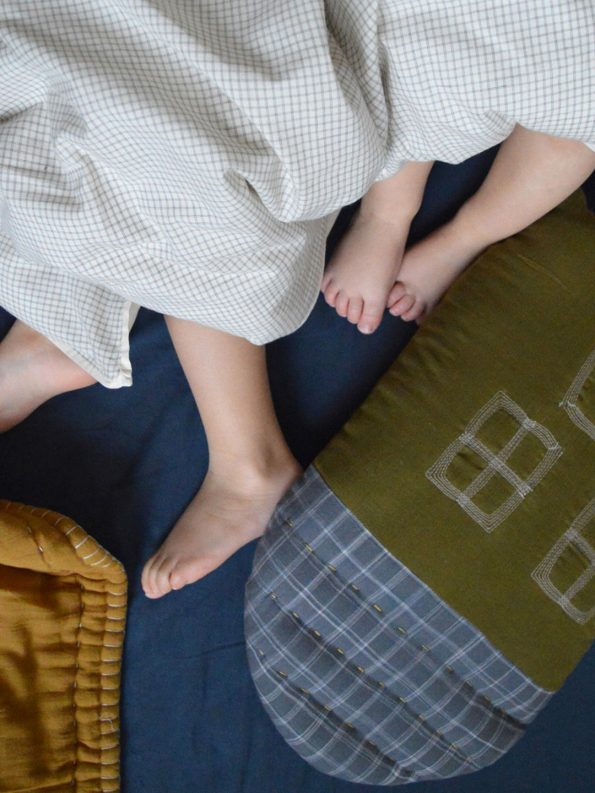 handmade baby nursery cot blankets & cushion by Camomile London