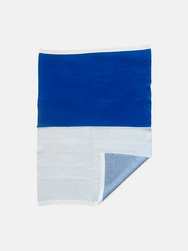Baby Organic Cotton Jacquard Blanket - Blue