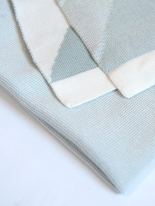 Baby Organic Cotton Jacquard Blanket - Almond Green