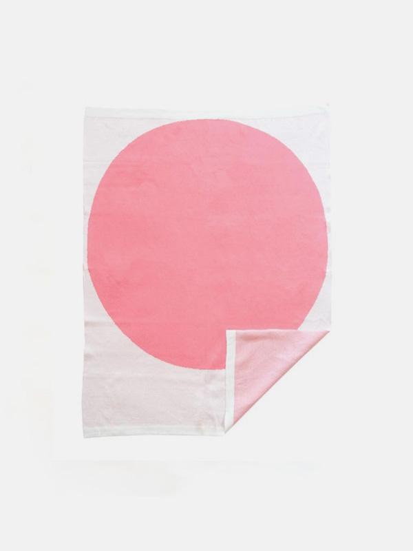 Baby Organic Cotton Jacquard Blanket - Pink