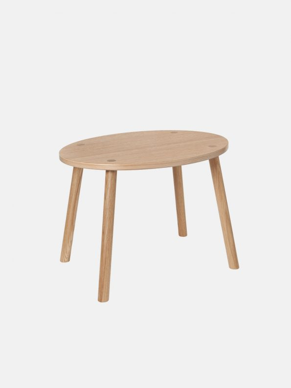 Mouse Table – Lacquered Oak